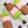 Chocolate Covered Cherry Cheesecake Popsicles
