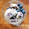 Banana Blueberry Swirled Ice Cream