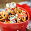 White Chocolate Valentine Pretzels