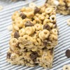 Chocolate Chip Fluffernutter Cheerio Bars