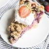 Berry Custard Pie - Berries and Cream Pie