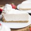 No Bake Cheesecake (with Strawberry Sauce)