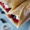 Red, White and Blue, Cherry Blueberry Crepes (Guest Post by Yvonne from Tried and Tasty) and a KitchenAid Giveaway!