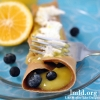 Chocolate Crepes with Orange-Lemon Curd