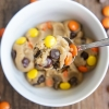 (Eggless) Peanut Butter Chocolate Chip Cookie Dough for One