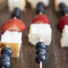 Red White and Blue Angel Food Cake Kebabs