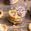 Cookie Dough Stuffed Pretzels