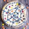 Giant Spiderweb Cookie Cake