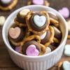 Conversation Heart Chocolate Pretzels