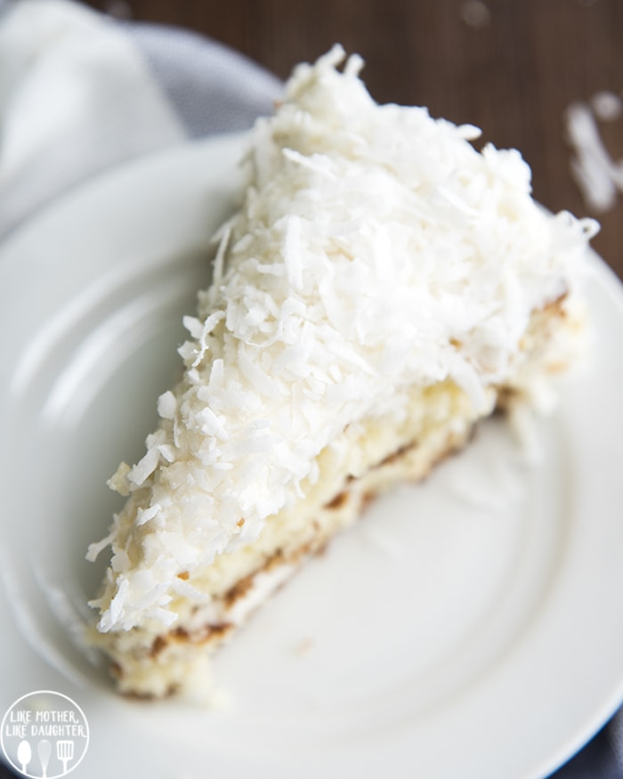 Coconut Cake topped with shredded coconut