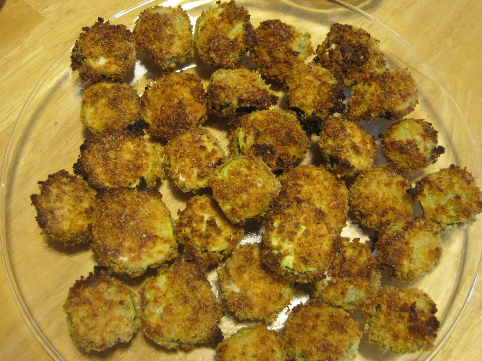 Parmesan Crusted Zucchini - Like Mother, Like Daughter