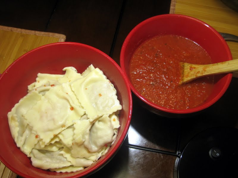 Homemade Red Pepper Beef Ravioli