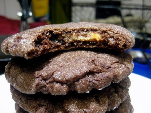 Chocolate Peanut Butter Surprise Cookies - Like Mother, Like Daughter