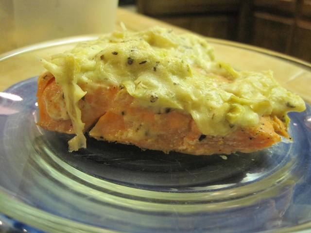 Artichoke Crusted Salmon