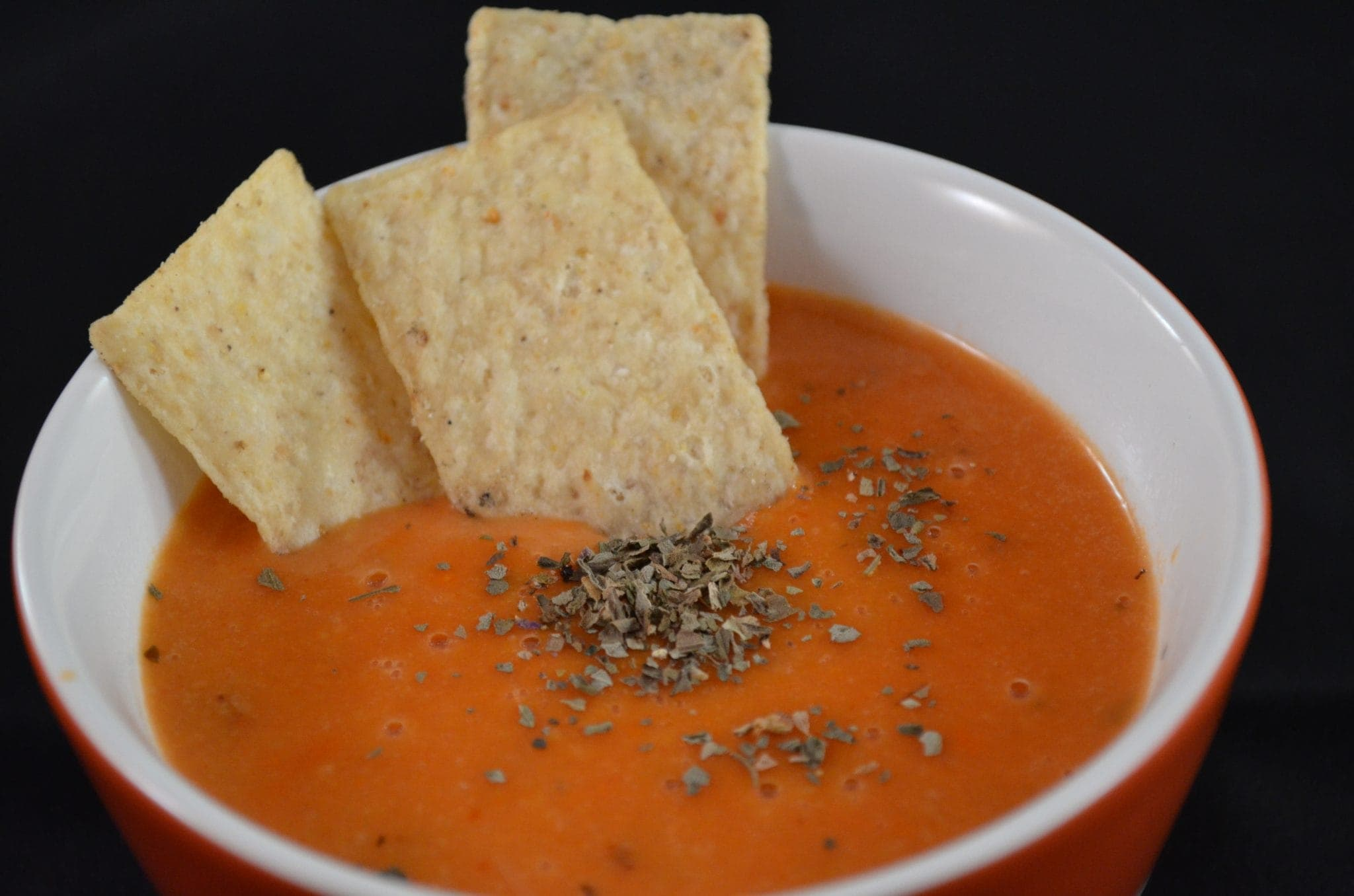 Creamy Parmesan Tomato Basil Soup (from a can!)
