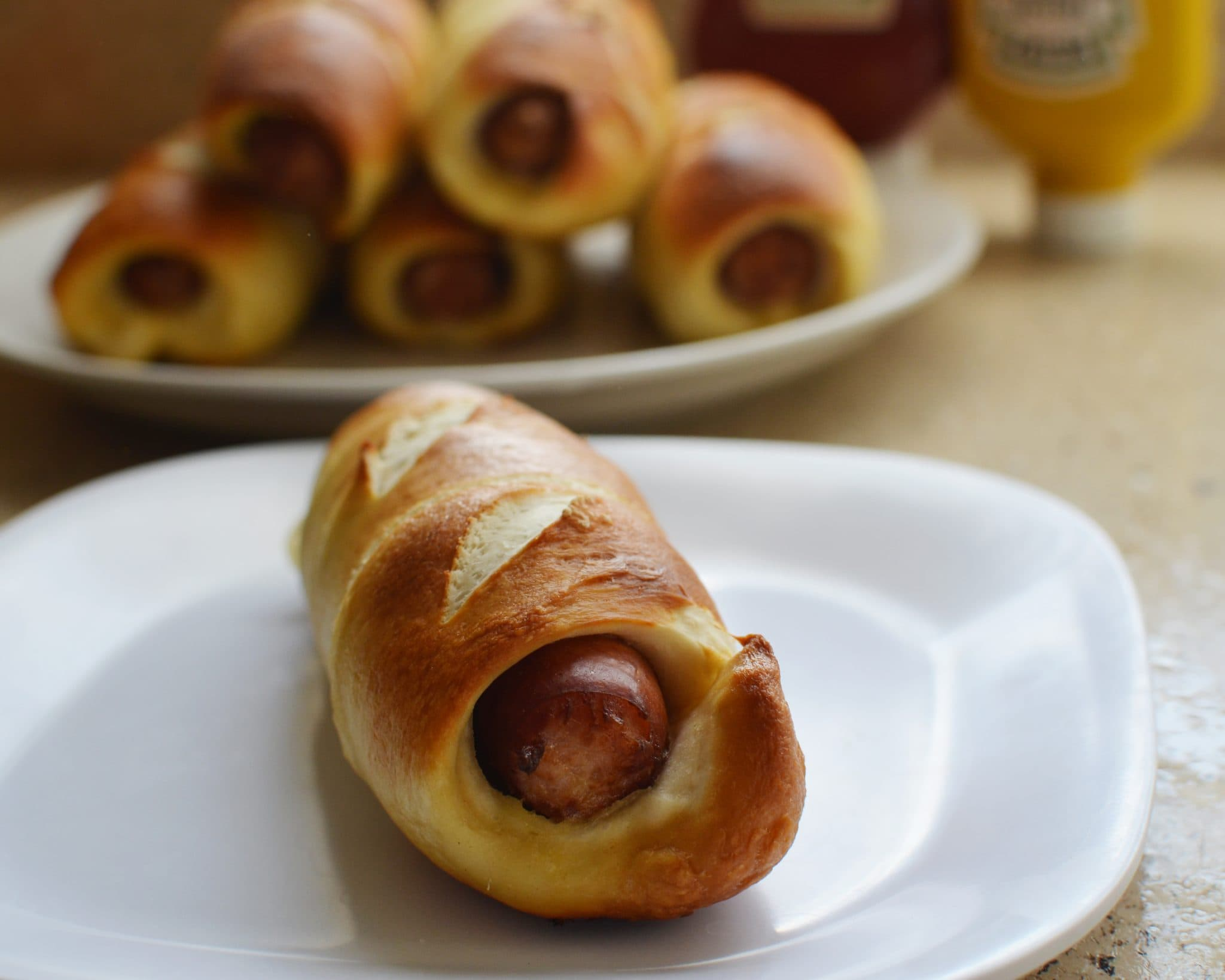 Pretzel Wrapped Bratwurst