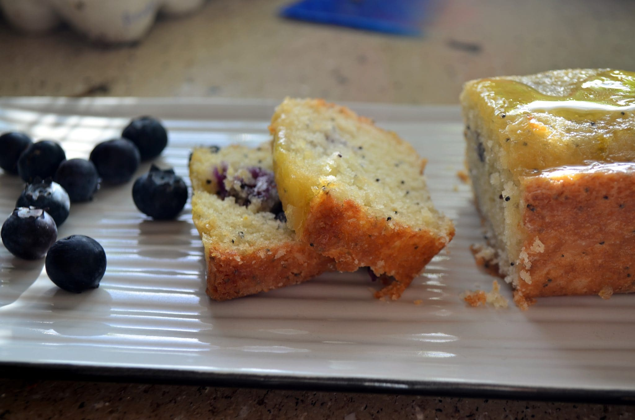 Blueberry Poppyseed Bread with Orange Glaze