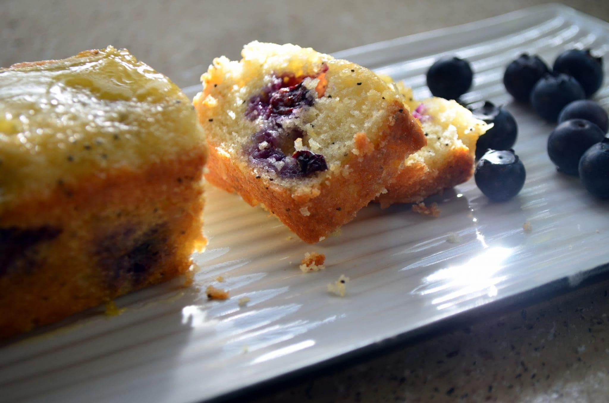 Blueberry Poppy-seed Bread with Orange Glaze