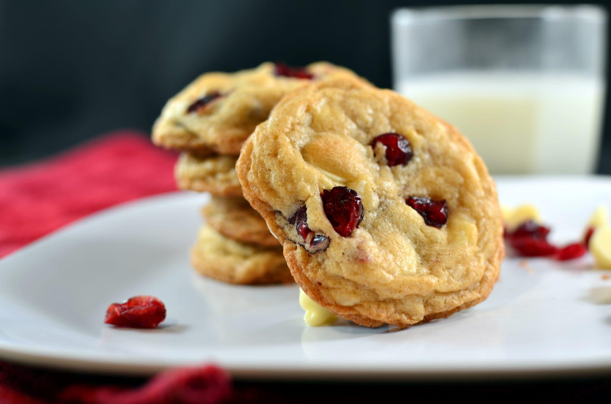 White Chocolate, Macadamia Nut, and Cranberry Cookies