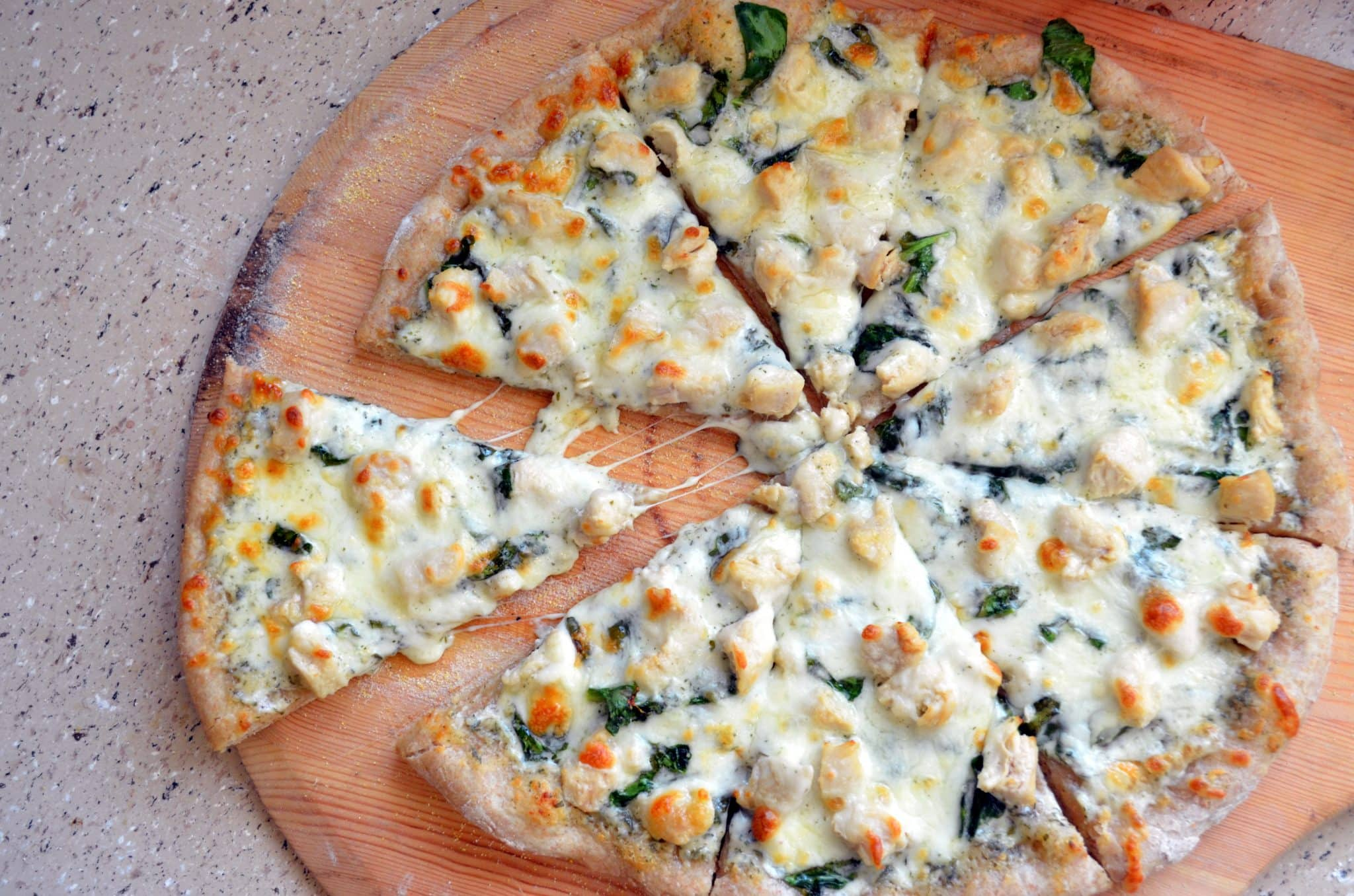 Crusts and toppings so you can make your own at home. Bye-bye, delivery guy! Spinach Alfredo Pizza, Blue Cheese, Walnut, and Pear Pizza, Campfire Pepperoni Pizza, Barbeque Chicken Grilled Pizza, Mediterranean Pesto Pizza.