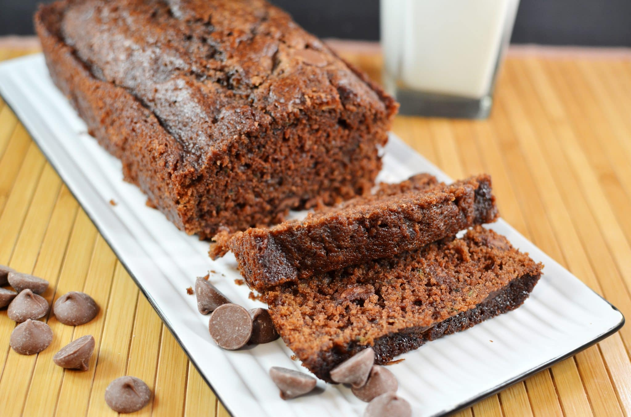 Double Chocolate Chocolate Chip Zucchini Bread with Chocolate Orange ...