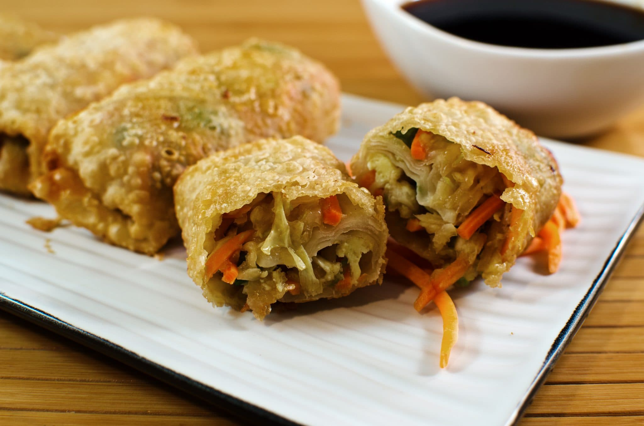 Vegetable Egg Rolls Recipe — Dishmaps Vegetarian Egg Rolls