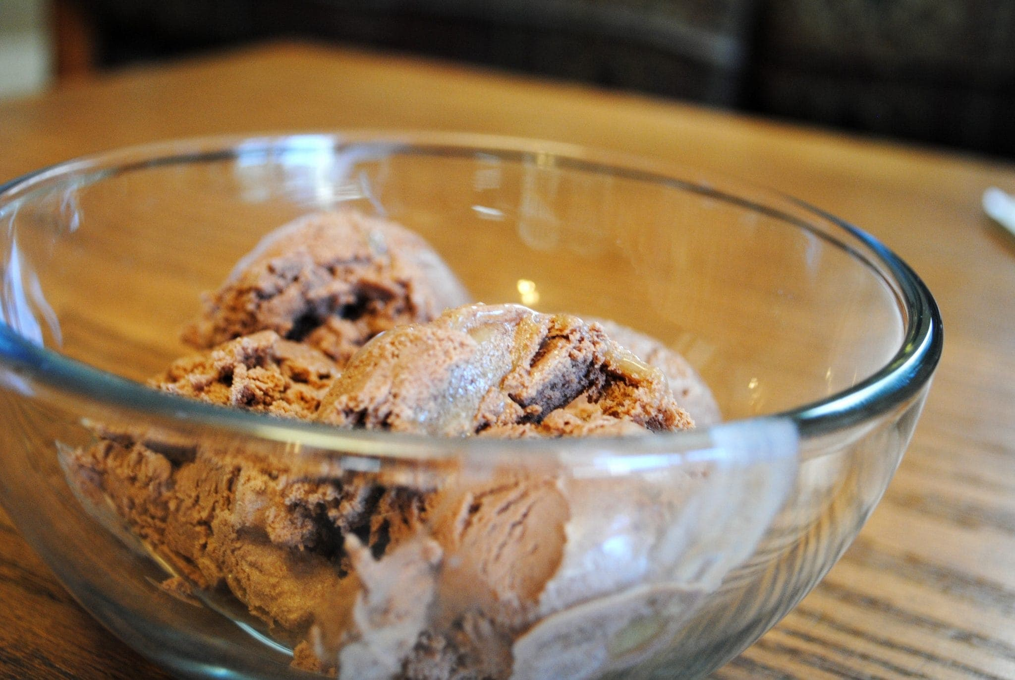 Homemade Chocolate Caramel Ice Cream