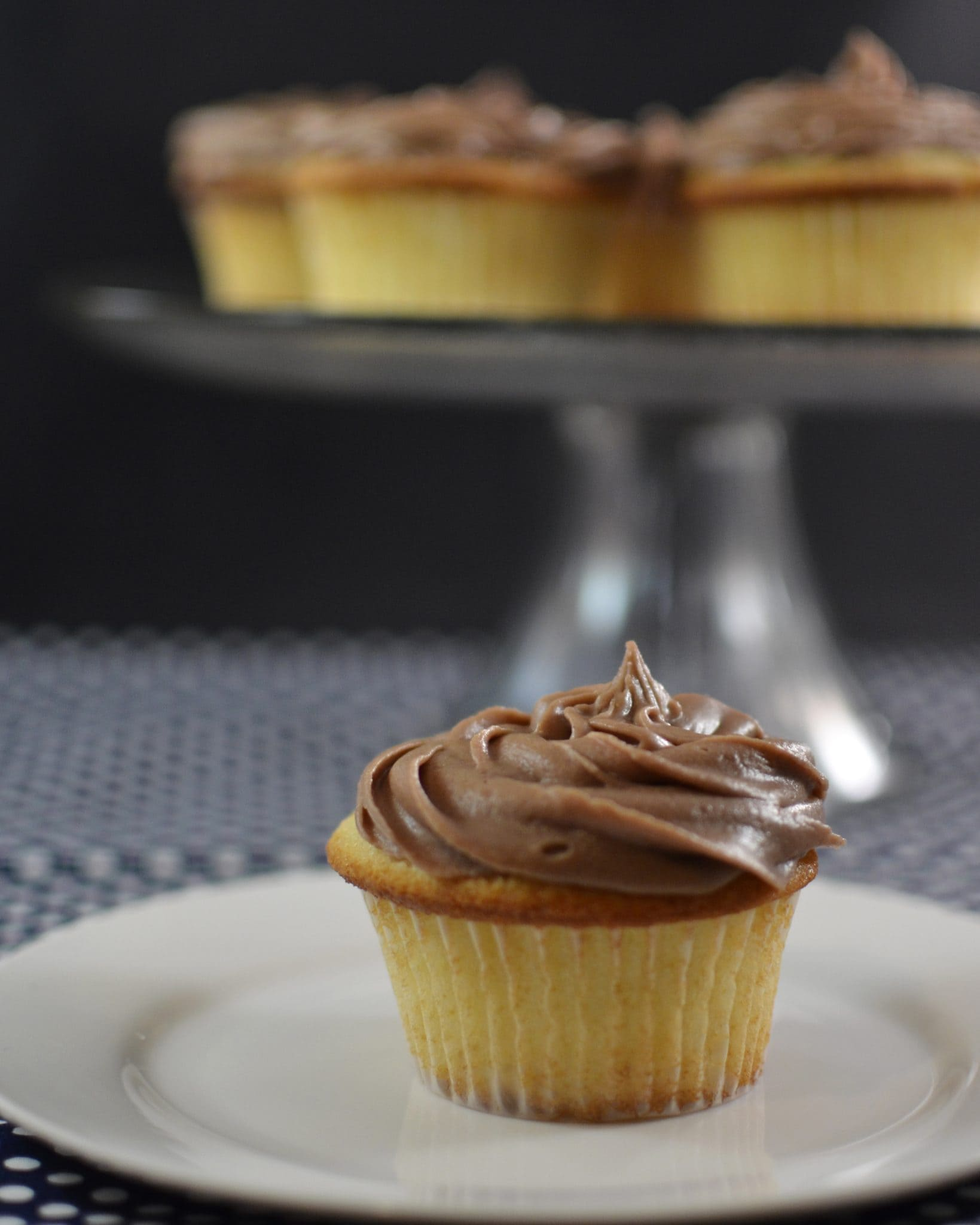 Yellow Cupcakes with Chocolate Frosting