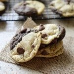 Chocolate and Chocolate Chip Swirl Cookies