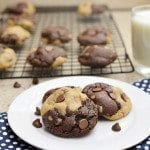Chocolate and Peanut Butter Swirl Cookies