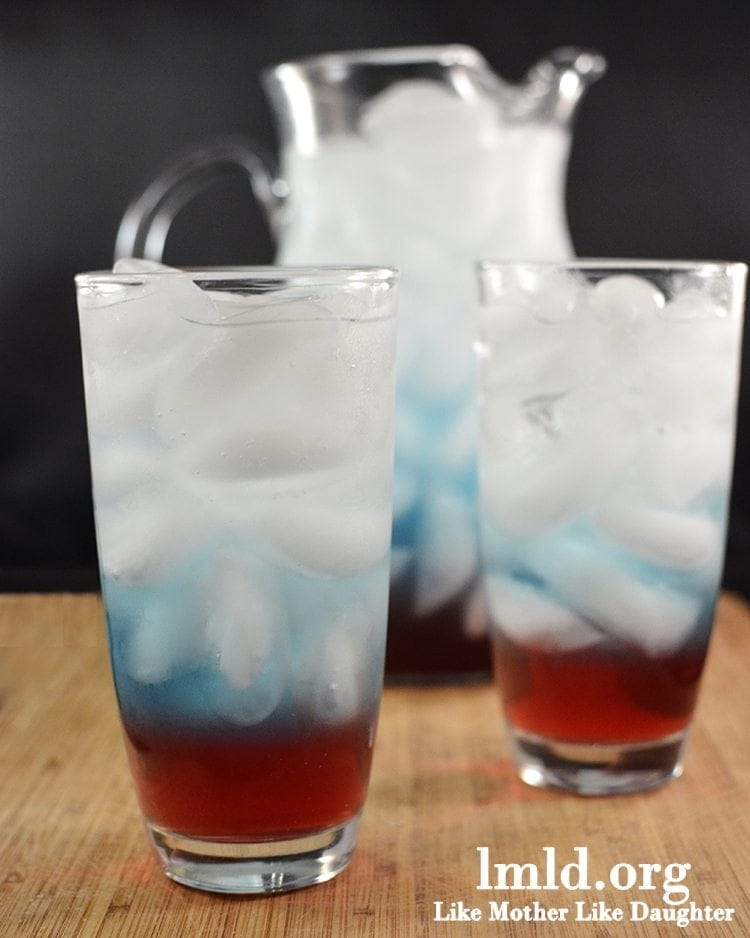 Fourth of July Layered Drinks