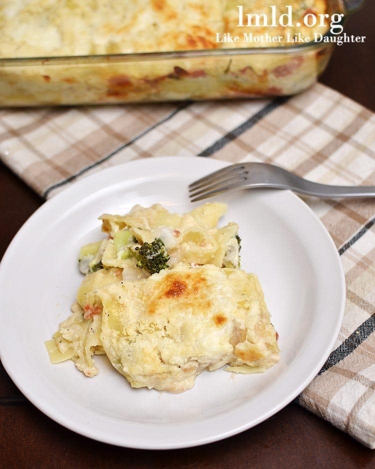 Vegetarian Alfredo Lasagna