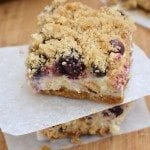 Blueberry and Boysenberry Lemon Cheesecake Bars