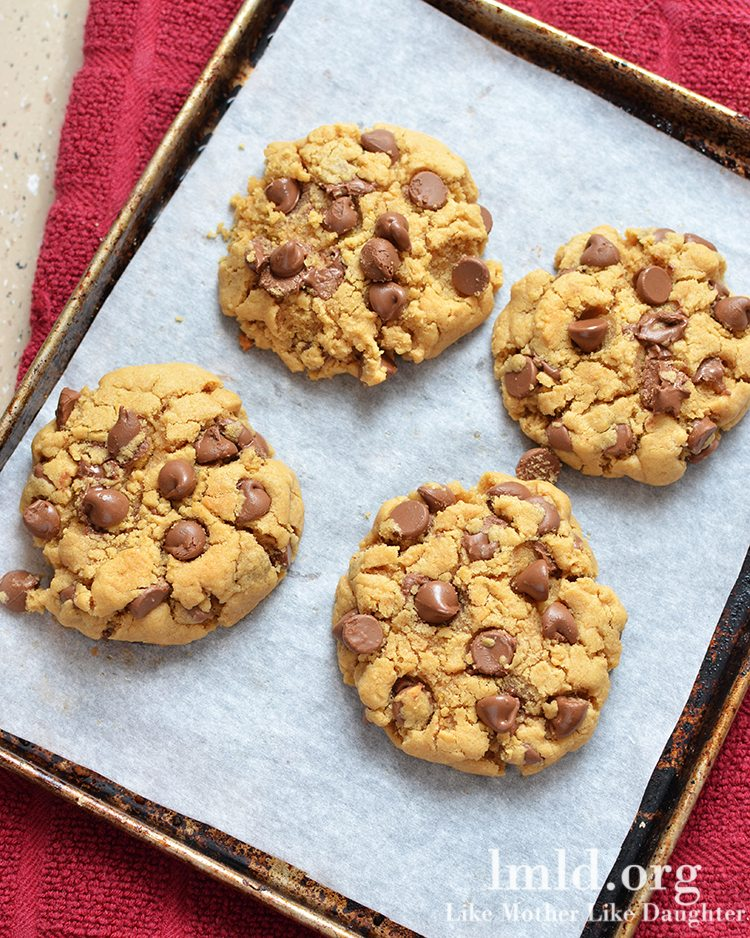Peanut Butter Chocolate Chip Cookies for Two