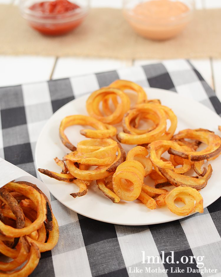 Oven Baked Curly Fries - Like Mother Like Daughter