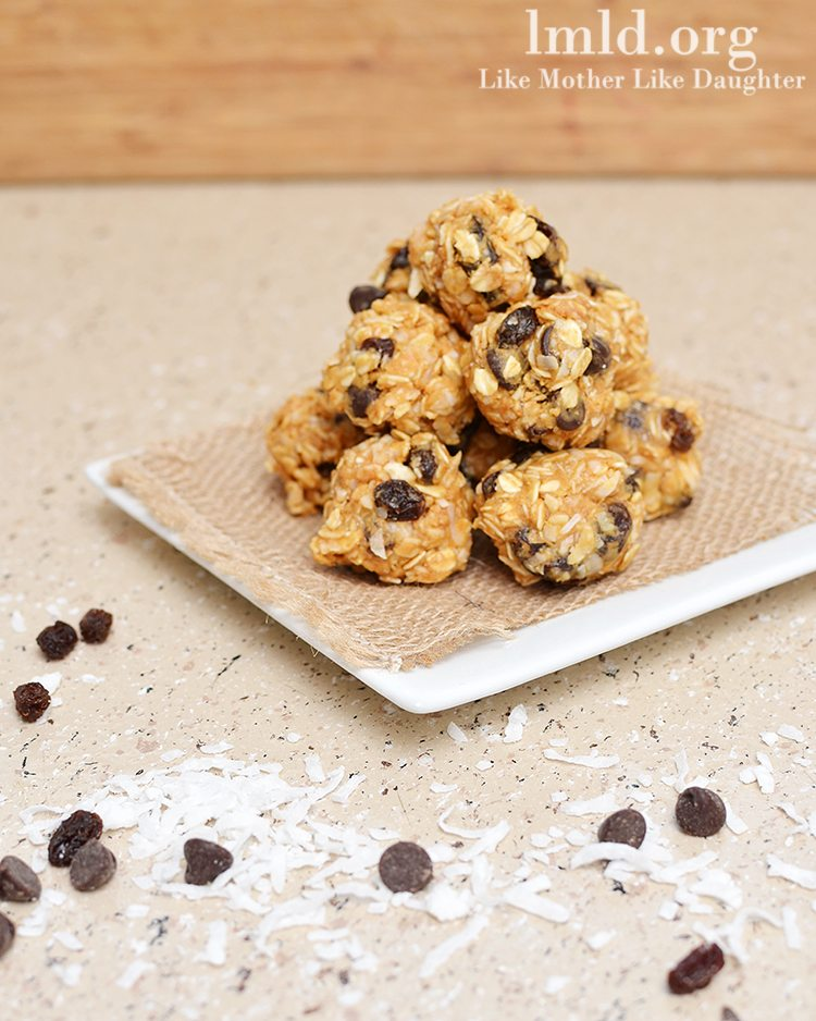 No Bake Granola Bar Bites - Like Mother Like Daughter