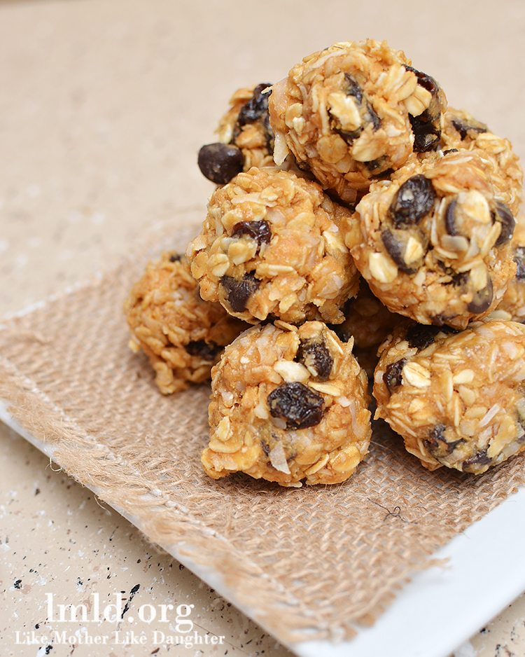 No Bake Granola Bar Bites