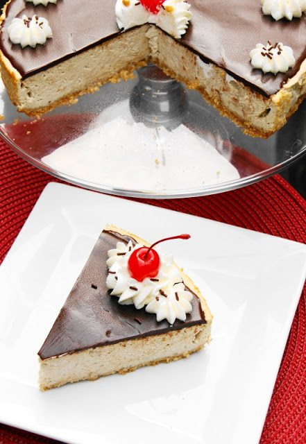 Banana Split Cheesecake and Slice 1