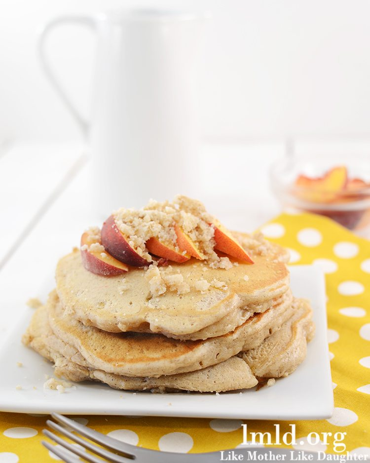 was planning on these becoming peach cobbler pancakes. But then I ...