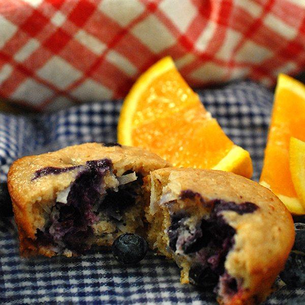 Blueberry Coconut Orange Muffins