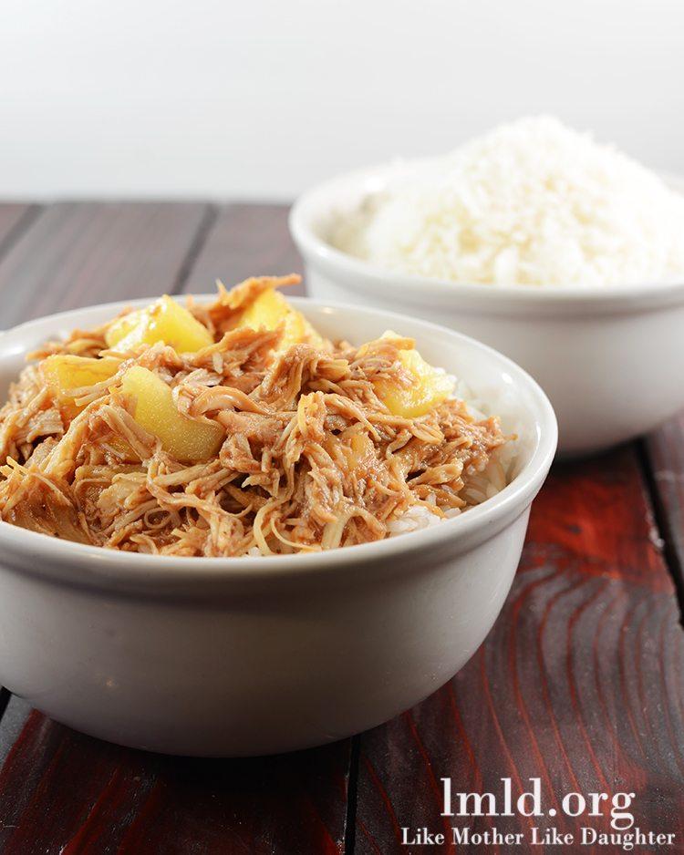 hawaiian bbq chicken over rice