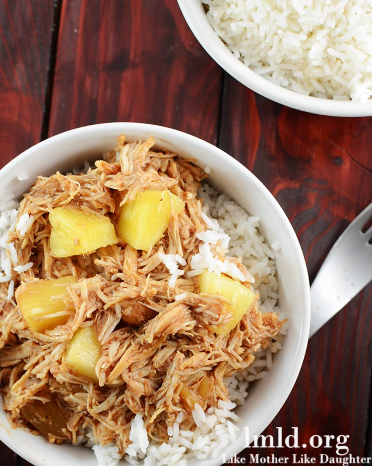 Hawaiian BBQ Chicken Over Rice