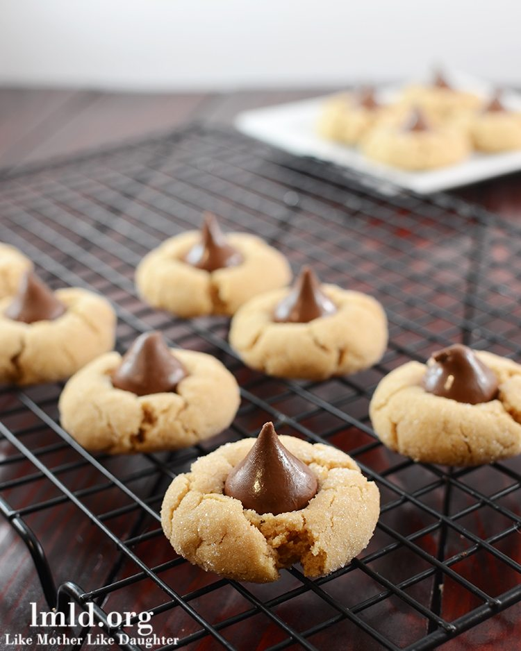 Peanut Butter Blossoms - Like Mother Like Daughter