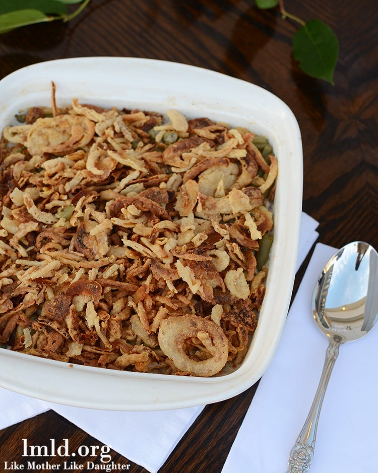 Semi homemade green bean casserole - no cream of mushroom soup!