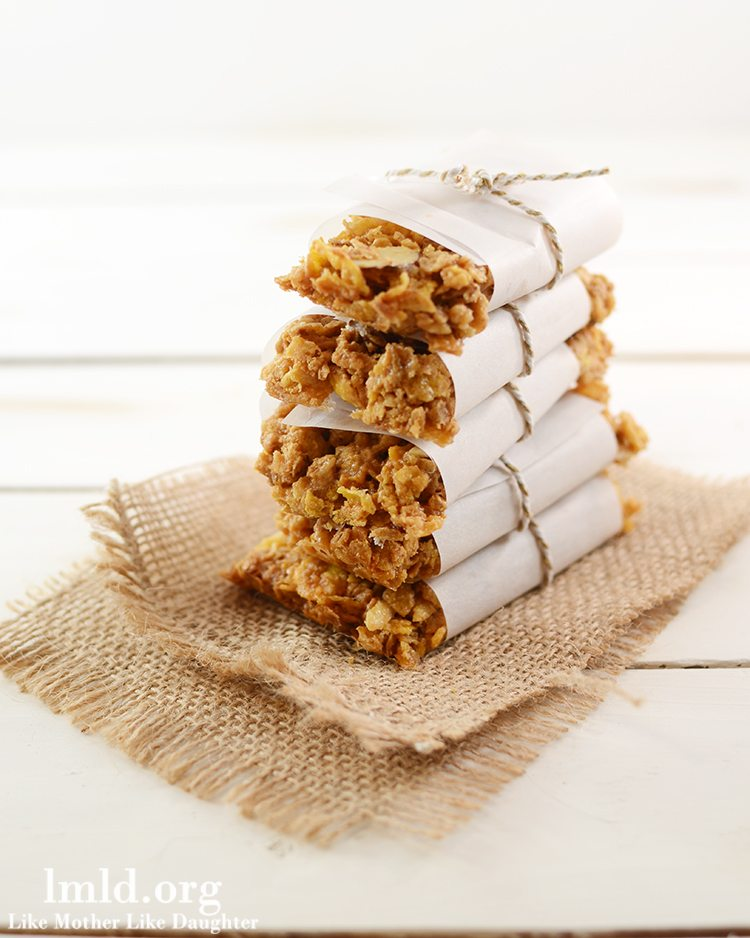 Peanut Butter and Honey Granola Bars - Like Mother Like Daughter