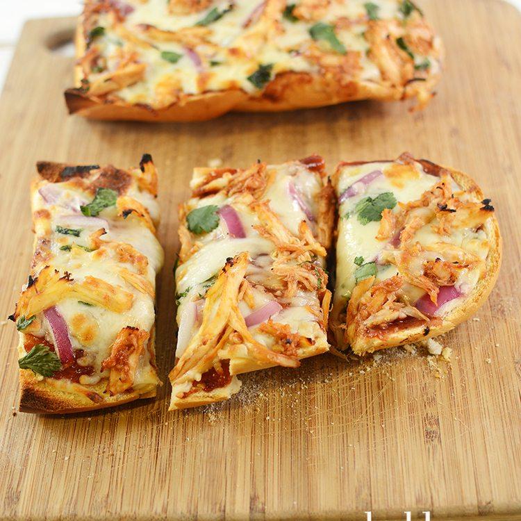 BBQ Chicken French Bread Pizza