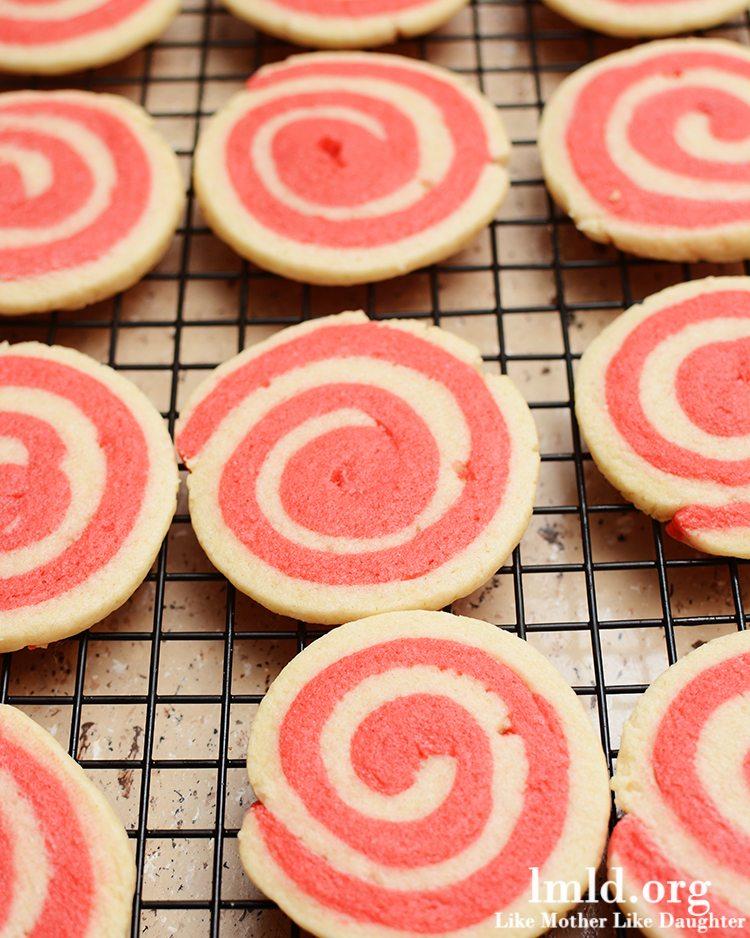 Valentine's Pinwheel Cookies