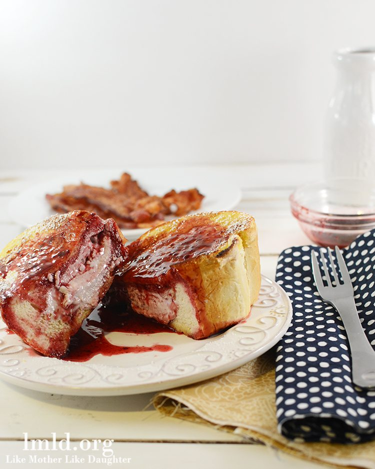 Berry Cream Cheese Stuffed French Toast - Like Mother Like Daughter