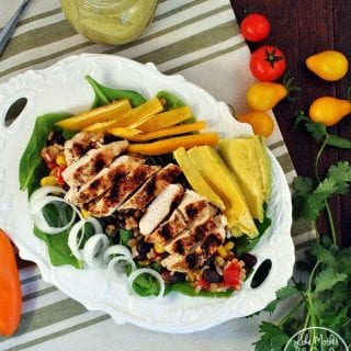 Southwest Chicken Salad with Avocado Dressing