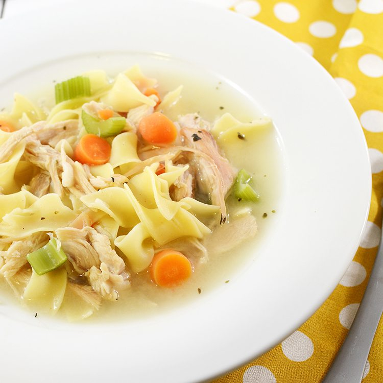 Chicken Noodle Soup (Guest Post on Dessert Now, Dinner Later)